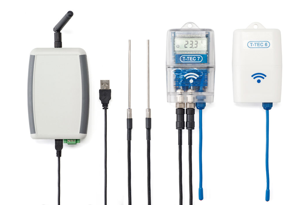Wireless (RF) data logger equipment for monitoring